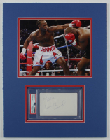 "Lennox Lewis Signed UFC 14x18 Custom Matted Cut Display Inscribed ""Best Wishes"" (PSA Encapsulated) at PristineAuction.com"