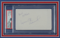 """Lennox Lewis Signed UFC 14x18 Custom Matted Cut Display Inscribed """"Best Wishes"""" (PSA Encapsulated) at PristineAuction.com"""