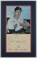 Ted Williams Signed LE Red Sox 14x22 Custom Matted Career Stat Print Display (Beckett LOA) at PristineAuction.com