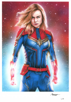Thang Nguyen - Captain Marvel - Marvel Comics - 8x12 Signed Limited Edition Giclee on Fine Art Paper #/50 at PristineAuction.com