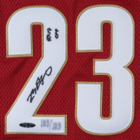"LeBron James Signed LE Cavaliers Career Highlight Jersey Inscribed ""ROY 04"" (UDA COA) at PristineAuction.com"