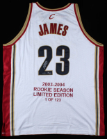 LeBron James Signed LE Cavaliers Career Highlight Jersey (UDA COA) at PristineAuction.com