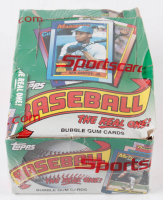 """1990 Topps """"The Real One"""" Bubble Gum Baseball Cards Box with (36) Packs (See Description) at PristineAuction.com"""