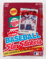 1988 Fleer Baseball Star Stickers Box with (36) Packs at PristineAuction.com