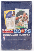 1990-91 NBA Hoops Basketball Box of (36) Packs (See Description) at PristineAuction.com
