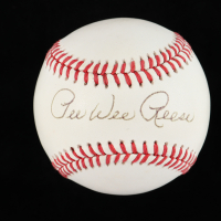 Pee Wee Reese Signed ONL Baseball (JSA COA) at PristineAuction.com