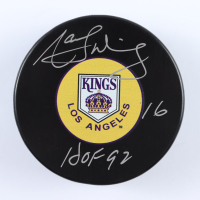 "Marcel Dionne Signed Kings Logo Hockey Puck Inscribed ""HOF 92"" (COJO COA) at PristineAuction.com"