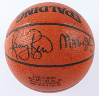 Larry Bird & Magic Johnson Signed LE NBA Official Game Ball Basketball (UDA Hologram) at PristineAuction.com