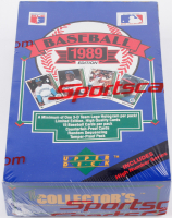 1989 Upper Deck Baseball Card Box with (36) Packs at PristineAuction.com