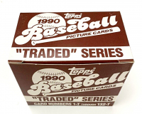 1990 Topps Traded Complete Set of (132) Baseball Cards with #48T David Justice RC at PristineAuction.com