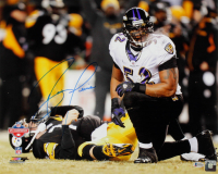 Ray Lewis Signed Ravens 16x20 Photo (Beckett COA) at PristineAuction.com