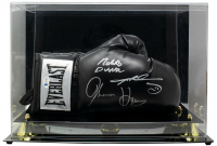 Sugar Ray Leonard, Thomas Hearns & Roberto Duran Signed Everlast Boxing Glove with Display Case (Beckett COA) at PristineAuction.com