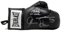 Sugar Ray Leonard, Thomas Hearns & Roberto Duran Signed Everlast Boxing Glove with Display Case (Beckett COA) at PristineAuction.com