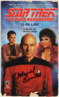 """Majel Barrett Signed """"Star Trek The Next Generation: Q-In-Law"""" Softcover Book (Beckett COA) at PristineAuction.com"""
