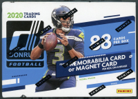 2020 Donruss Football Blaster Box (Blue) with 11 Packs at PristineAuction.com