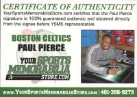 Paul Pierce Signed Celtics 8x10 Photo (Pierce COA & JSA SOA) at PristineAuction.com