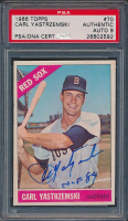 "Carl Yastrzemski Signed 1966 Topps #70 Inscribed ""HOF 89"" (PSA Encapsulated) at PristineAuction.com"