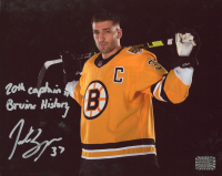 "Patrice Bergeron Signed Bruins 8x10 Photo Inscribed ""20th Captain in Bruins History"" (Bergeron COA) at PristineAuction.com"