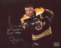 """Patrice Bergeron Signed Bruins 8x10 Photo Inscribed """"20th Captain in Bruins History"""" (Bergeron COA) at PristineAuction.com"""