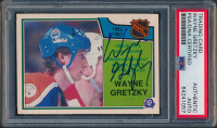 Wayne Gretzky Signed 1982-83 O-Pee-Chee OPC Goal Leader #215 (PSA Encapsulated) at PristineAuction.com