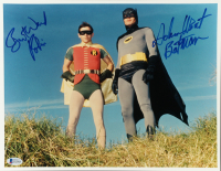 "Adam West & Burt Ward Signed ""Batman"" 11x14 Photo Inscribed ""Batman"" & ""Robin"" (Beckett COA) at PristineAuction.com"