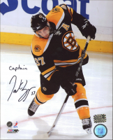 "Patrice Bergeron Signed Bruins 8x10 Photo Inscribed ""Captain"" (Bergeron COA) at PristineAuction.com"