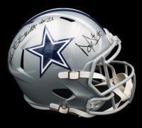 Dak Prescott & Ezekiel Elliot Signed Cowboys Full-Size Speed Helmet (Beckett COA) at PristineAuction.com