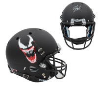 "Stan Lee Signed Matte Black ""Venom"" Full-Size Helmet (Lee Hologram) at PristineAuction.com"