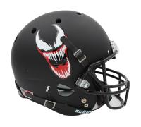 """Stan Lee Signed Matte Black """"Venom"""" Full-Size Helmet (Lee Hologram) at PristineAuction.com"""