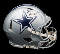 "Roger Staubach Signed Cowboys Full-Size Authentic On-Field Speed Helmet Inscribed ""HOF '85"" (JSA COA) at PristineAuction.com"