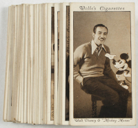 "1931 Will's ""Cinema Stars"" Complete Set of (50) Cards with Walt Disney & Mickey Mouse, Laurel & Hardy, Buster Keaton at PristineAuction.com"