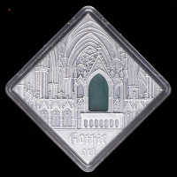 "2014 Niue The Art that Changed the World ""Gothic Art"" Silver Coin with Antique Finish & Agate Insert at PristineAuction.com"