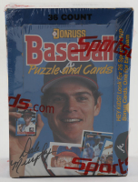 1988 Donruss Puzzle & Baseball Cards Box of (36) Wax Packs (See Description) at PristineAuction.com