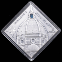 "2014 Niue The Art that Changed the World ""Renaissance Art"" Silver Coin with Antique Finish & Agate Insert at PristineAuction.com"
