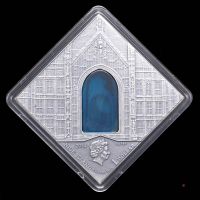 """2014 Niue The Art that Changed the World """"Romaticism Art"""" Silver Coin with Antique Finish & Agate Insert at PristineAuction.com"""