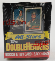 1989 Topps DoubleHeaders Baseball Card Box with (24) Packs (See Description) at PristineAuction.com