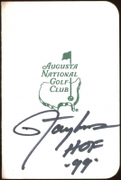 "Lawrence Taylor Signed Augusta Masters Scorecard Inscribed ""HOF '99"" (JSA COA) at PristineAuction.com"