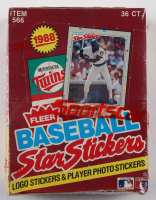 1988 Fleer Baseball Star Stickers Box with (36) Packs (See Description) at PristineAuction.com