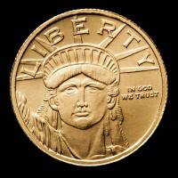 1/10 oz Statue of Liberty .9999 Fine Gold Bullion Round at PristineAuction.com