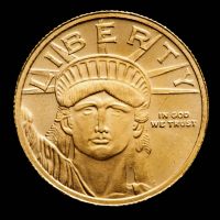 1/10 oz Statue of Liberty .9999 Fine Gold Bullion Round at PristineAuction.com