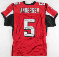 """Morten Andersen Signed Falcons Jersey Inscribed """"2006 Game Used"""", """"NFL Scoring Record"""" & """"12/17/06"""" (Radtke LOA) at PristineAuction.com"""
