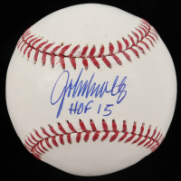 "John Smoltz Signed OML Baseball Inscribed ""HOF 15"" (JSA Hologram) at PristineAuction.com"
