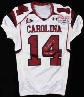 "Connor Shaw Signed South Carolina Gamecocks Jersey Inscribed ""2010 Game Used"" (Radtke LOA) (See Description) at PristineAuction.com"