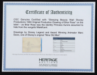 Sleeping Beauty (1959) Walt Disney Productions - Original Production Drawing of Briar Rose (CGC Encapsulated) at PristineAuction.com