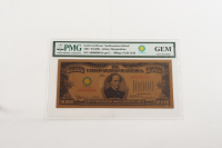 2018 Smithsonian 1934 Edition $10,000 24k Gold Certificate (PMG GEM) at PristineAuction.com