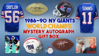 Schwartz Sports 1986, 1990 New York Giants World Champs Mystery Autograph Gift Box – Series 4 (Limited to 156) – **Grand Prize TEAM Signed Jersey** at PristineAuction.com