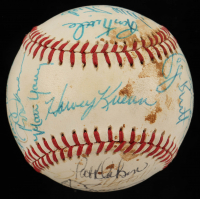 1983 American League All-Stars OAL Baseball Team-Signed by (31) with Jim Rice, Eddie Murray, George Brett, Rod Carew (Beckett LOA) at PristineAuction.com