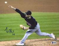 Zach Plesac Signed Indians 8x10 Photo (Beckett COA) at PristineAuction.com