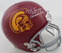 "O.J. Simpson Signed USC Trojans Full-Size Helmet Inscribed ""Heisman 68'"" (JSA COA) at PristineAuction.com"