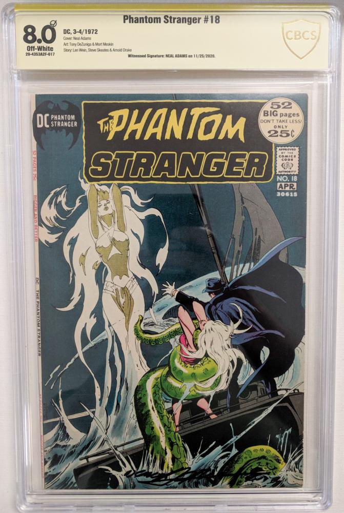 "Neal Adams Signed 1972 ""The Phantom Stranger"" Issue #18 DC Comic Book (CBCS Encapsulated - 8.0) at PristineAuction.com"